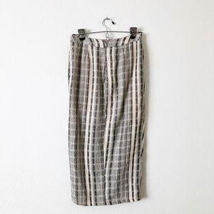 Astr Skirts - ASTR Striped Crossover Pencil Skirt
